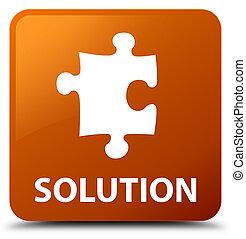Solution (puzzle icon) brown square button