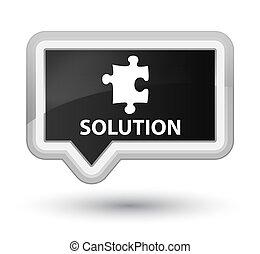 Solution (puzzle icon) prime black banner button