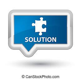 Solution (puzzle icon) prime blue banner button
