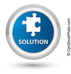 Solution (puzzle icon) prime blue round button