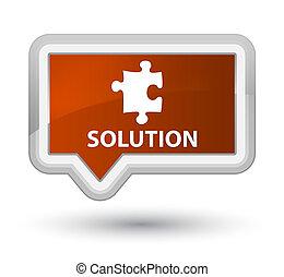 Solution (puzzle icon) prime brown banner button