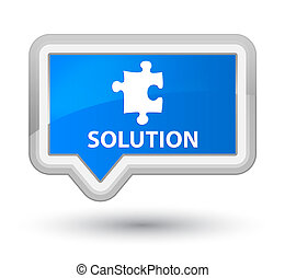 Solution (puzzle icon) prime cyan blue banner button