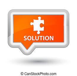 Solution (puzzle icon) prime orange banner button