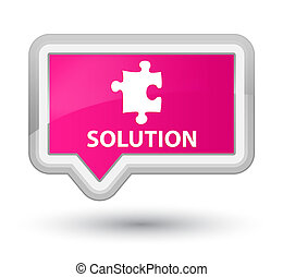Solution (puzzle icon) prime pink banner button