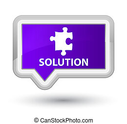 Solution (puzzle icon) prime purple banner button