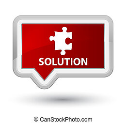 Solution (puzzle icon) prime red banner button