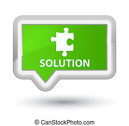 Solution (puzzle icon) prime soft green banner button