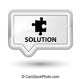 Solution (puzzle icon) prime white banner button