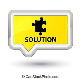 Solution (puzzle icon) prime yellow banner button