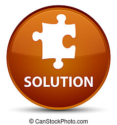 Solution (puzzle icon) special brown round button