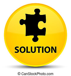 Solution (puzzle icon) special yellow round button