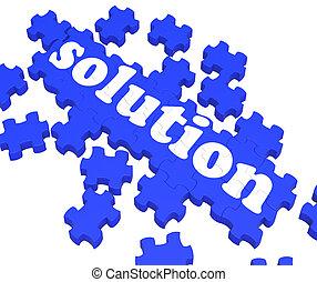 Solution Puzzle Shows Business Success