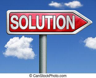 solution road sign arrow
