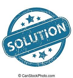 SOLUTION round stamp