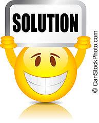 solution, signe