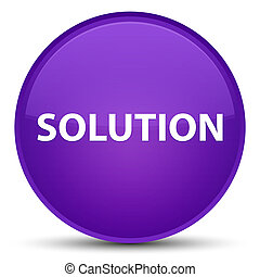Solution special purple round button