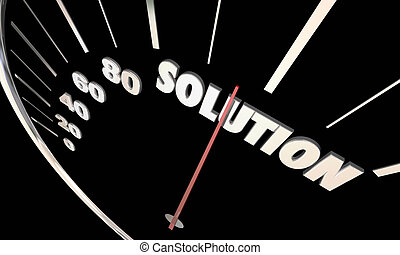 Solution Speedometer Problem Solved Fix Repaired 3d Illustration