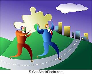 solution - puzzle piece found