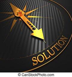 solution., tło., handlowy