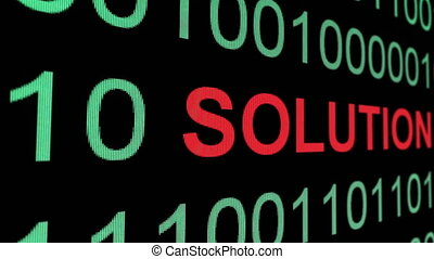 Solution text over binary data