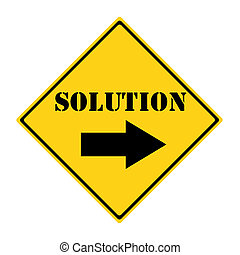 Solution that way Sign