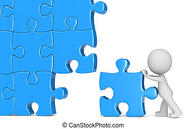 Solution. - The Dude putting last piece of massive puzzle. ...