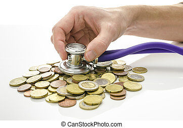 Solution to financial crisis concept