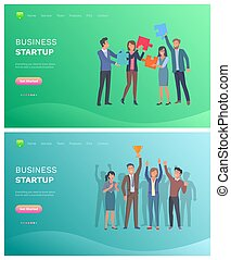 Solution to Problem and Business Startup Vector