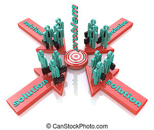 Solution to the problem. Finding solution. Conceptual business illustration