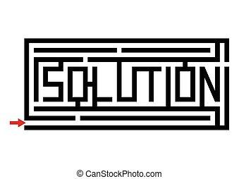 solution, typographie