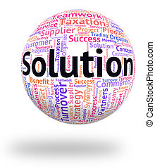 Solution Word Indicates Text Succeed And Resolution