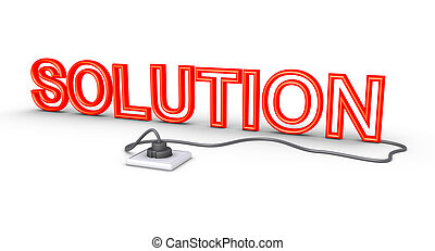 3d solution word is plugged in