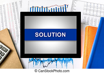 solution word on tablet