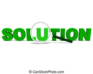 Solution Word Shows Solve Resolve Succeed And Solved