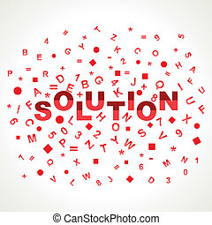 Solution word with in alphabets