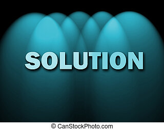 Solution Words Shows Achievement Resolution Solving And Solved
