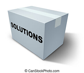 Solutions box - Solutions and answers on a white box...