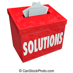 Solutions Collection Suggestion Box Solve Problem Sharing Ideas
