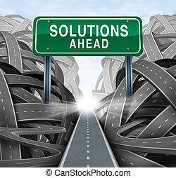 solutions, devant