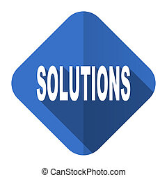 solutions flat icon