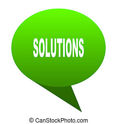 solutions green bubble icon