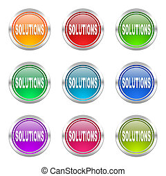 solutions icons set