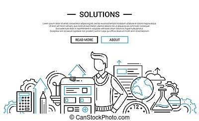 Solutions - line design website banner temlate - Solutions -...