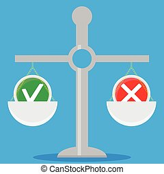 solutions., peser, balances, choix