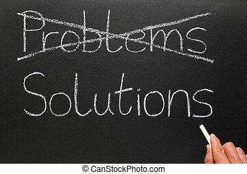 solutions., problèmes