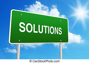 Solutions road sign
