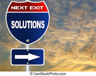 solutions, route, signe