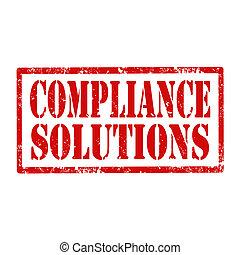 solutions-stamp, conformidade