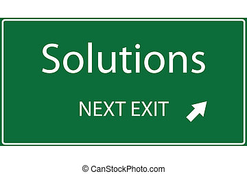 Solutions Vector - Vector illustration of a Solutions sign