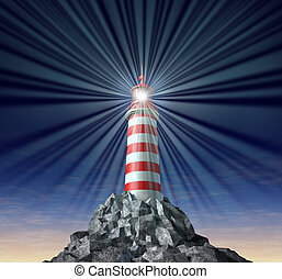 Solutions with a beaming Lighthouse symbol - Beaming light...